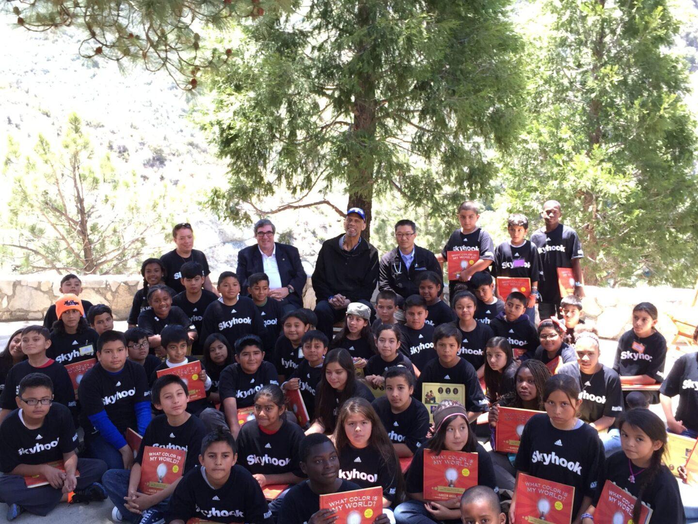 Kareem Abdul-Jabbar visits Camp Skyhook with UCLA Dr  Shemin and Dr